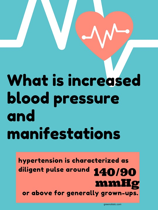 What is increased blood pressure and manifestations