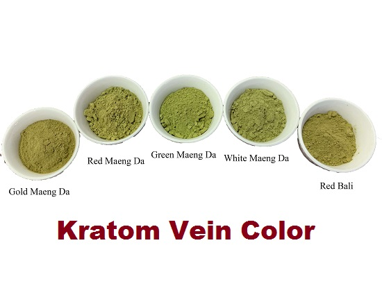 Kratom vein color